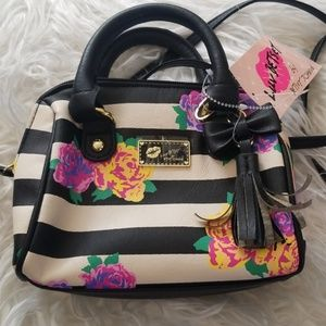 Luv Betsey Mini Floral Barell Purse